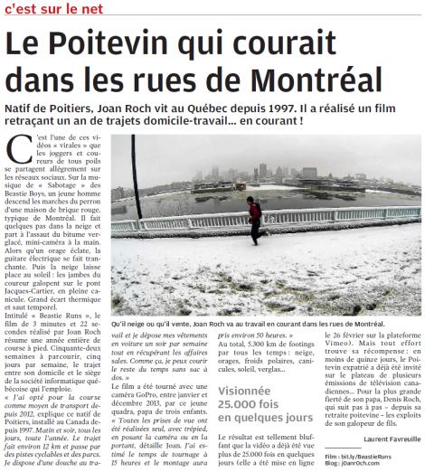 Laurent Favreuille, Centre Presse, 11 mars 2014