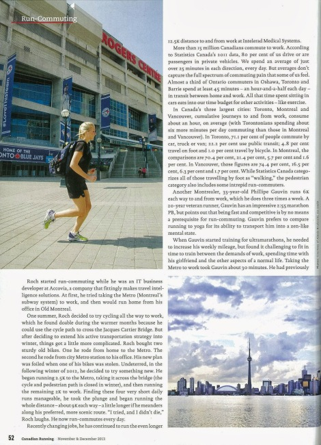 Lesley Evans Ogden, Canadian Running, Vol. 6 Issue 7, Nov. & Dec. 2013, p. 52