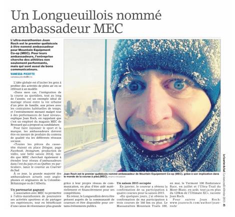 Vanessa Picotte, Le Courrier du Sud, 4 février 2015, p. 65