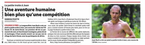 Vanessa Picotte, Le Courrier du Sud, 22 avril 2015, p. 88