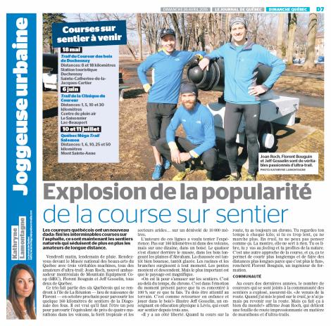 Kathryne Lamontagne, Le Journal de Québec, 26 avril 2015, p. D7