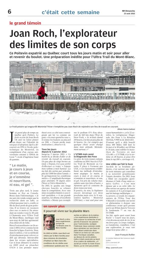 Jean-François Rullier, 23 août 2015, La Nouvelle République, p. 6