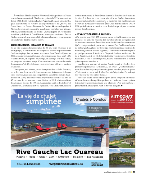 Frédéric Berg, Septembre 2015, Géo Plein Air, p. 54