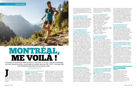 Xavier Boulanger, Décembre 2015, Esprit Trail, pp. 78-79