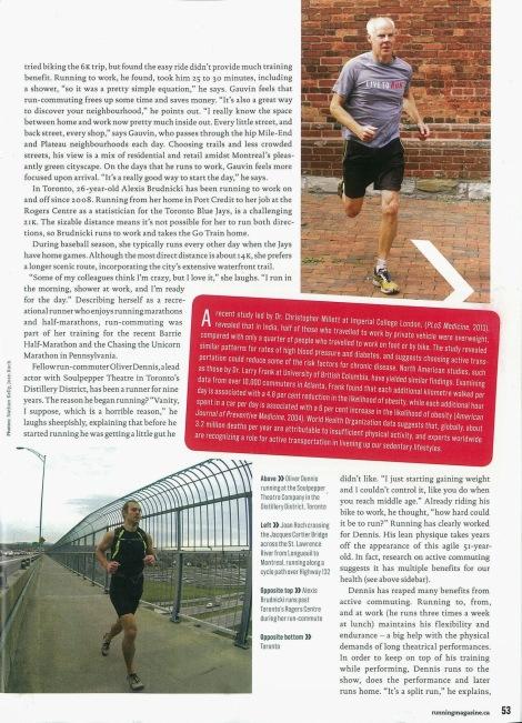 Lesley Evans Ogden, Canadian Running, Vol. 6 Issue 7, Nov. & Dec. 2013, p. 53