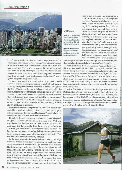 Lesley Evans Ogden, Canadian Running, Vol. 6 Issue 7, Nov. & Dec. 2013, p. 54