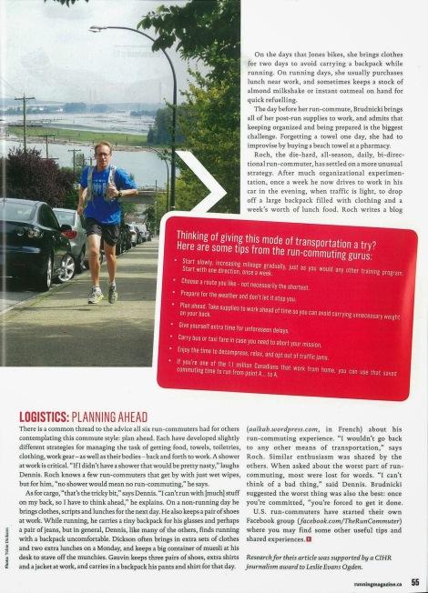 Lesley Evans Ogden, Canadian Running, Vol. 6 Issue 7, Nov. & Dec. 2013, p. 55