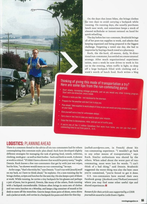 Lesley Evans Ogden, Canadian Running, Vol. 6 Issue 7, Nov. & Dec. 2013, p. 55