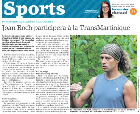 Vanessa Picotte, Le Courrier du Sud, 3 décembre 2014, p. 79