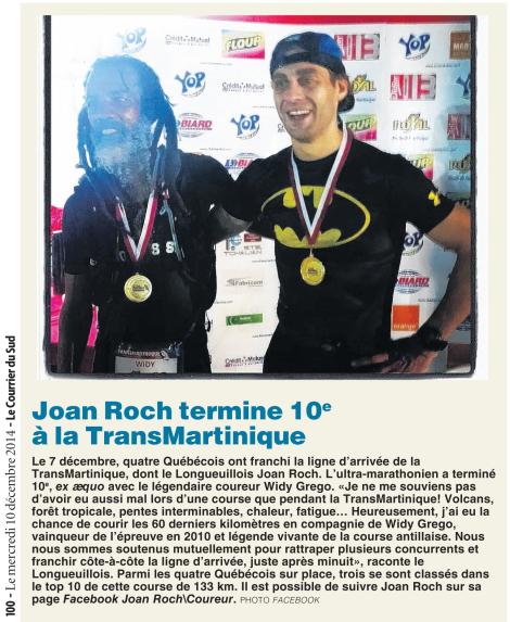 Vanessa Picotte, Le Courrier du Sud, 10 décembre 2014, p. 100